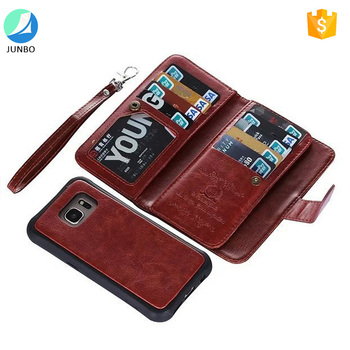 2017 popular items leather wallet case for samsung galaxy s8 mobile phone case