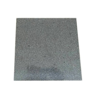 China New G654 Flamed Impala Black Grey Granite Stone 12x24 Tiles