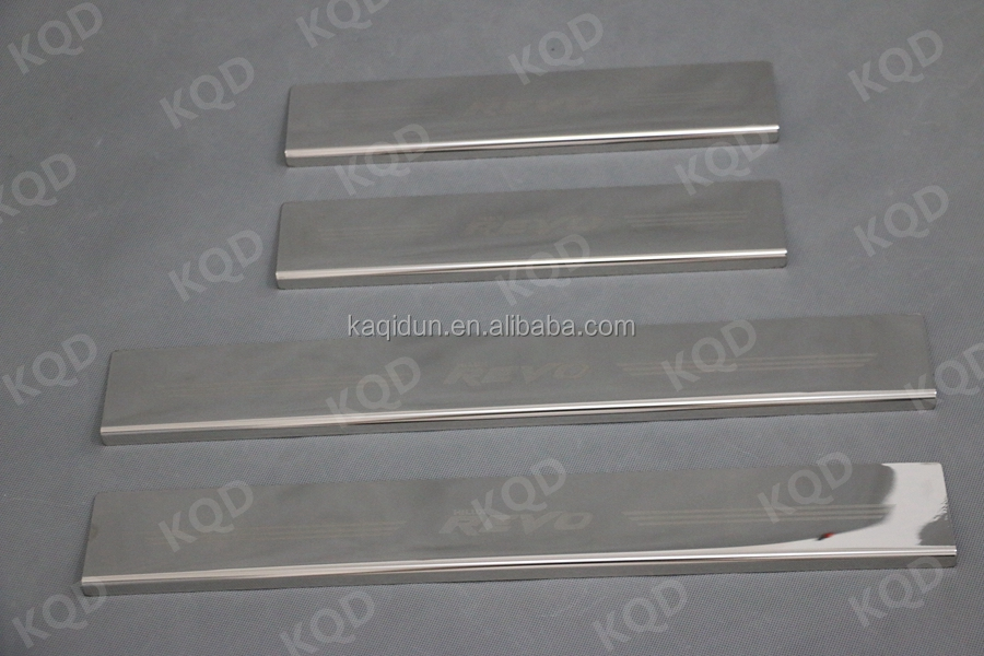 door sill stainless steel 4pcs side step for toyota revo 2015