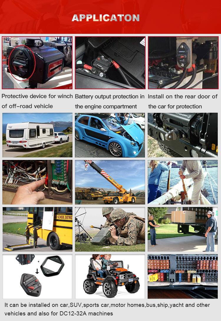1610-21 SongTang E39 28 V DC Auto reinicio ATO/ATC disyuntor fusible de cuchilla para automoción de coche marina 227