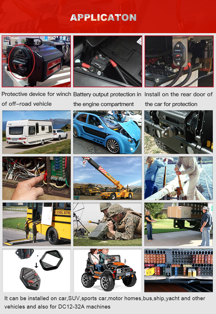 E521 Otomotif Stud Tipe Mount Bimetal Circuit Breaker Shortstop/Bimetal Thermal Overload Protector Switch