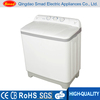White color double tube top loading washing machine