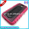 OEM dots snap combo high quality PC case spring stand holder support case holster case for Samsung Galaxy S4 i9500