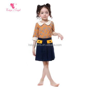 Larga Camisetas Niños Amarillo Niñas Vaqueros Faldas De Conjunto Las Y Superior Casual Manga 4OIw5qp