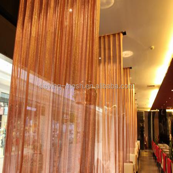 Chains Room Divider Metal Wire Mesh Hanging Ceiling Dividers