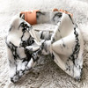 2018 hot sell cotton gray marble printed dog collar with rose gold buckle