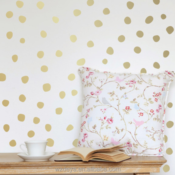 popular best selling top quality gold dot wall sticker home decor