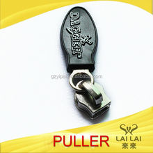 Two sided slider metal zipper pulls