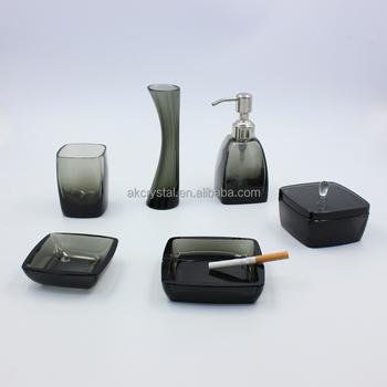 Black Crystal Bathroom Accessories Sets