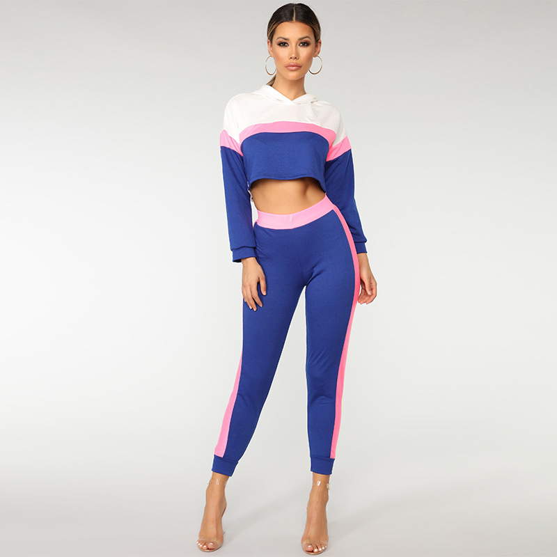 Youth Women Girl Polyester Casual <strong>Sports</strong> Running Jogging Wear Female Tracksuit