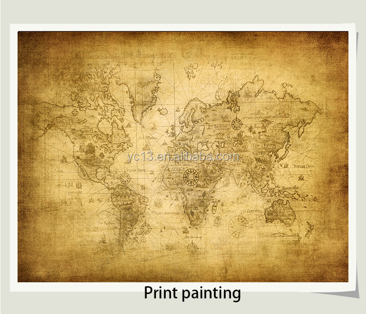 canvas photo printing wholesale art painting the world map cotton canvas prints