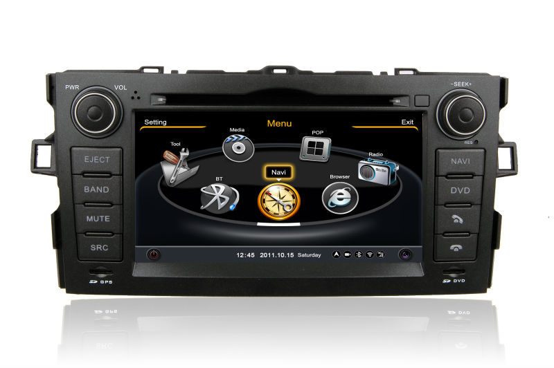 In Stock 2 din <strong>car</strong> dvd GPS for <strong>Toyota</strong> Auris with Wifi 3G GPS Bluetooth Radio RDS USB IPOD Steering wheel control