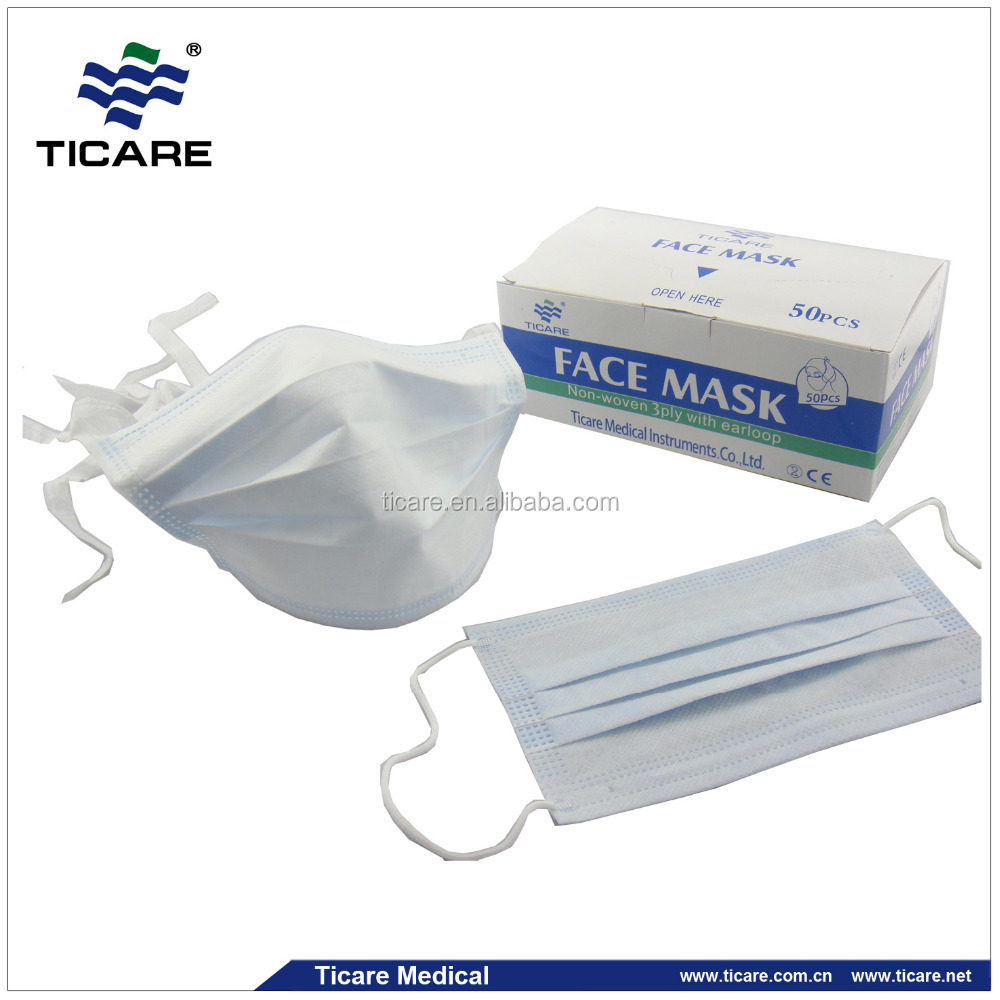 white 2 ply safety protection disposable face mask
