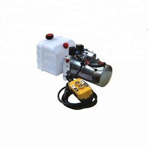 4L 6L 8L oil tank size small hydraulic system 12 V hydraulic power pack unit with remote control