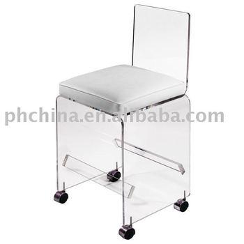 Clear Acrylic Bar Stool On Wheelsclear Acrylic Bar Chairclear