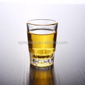 Small Drinkingware Bottom Gear Pattern Design Whisky Shot Glass