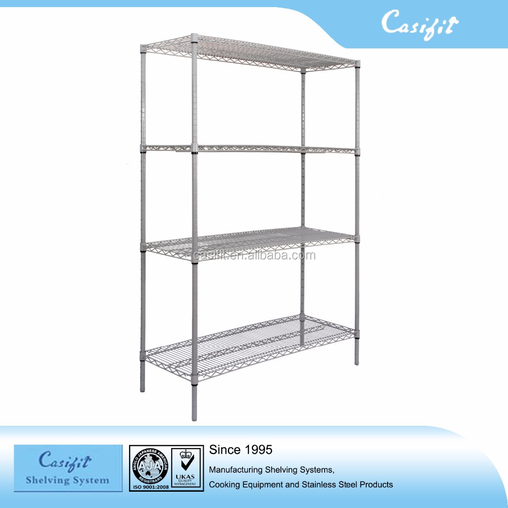 Top Sale Commercial Boltless Galvanized Wire Shelving(4 Tiers) For ...