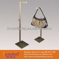 Clear mirror effect shopping bag display stands