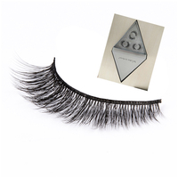 New styles magnetic strip false lashes 3d silk lash synthetic eyelash