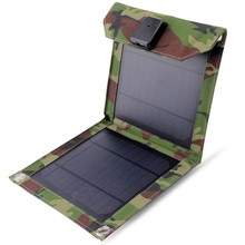 5W Portable Folding Solar Panel Power Bank Waterproof Camouflage Solar Panel