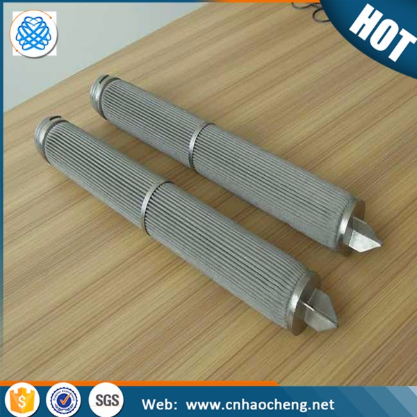 stainless steel sintered folding filter tube/Race Car Filter Element/wire mesh candle filter
