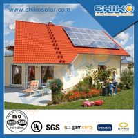 1kw home application solar panel mounting for rooftop