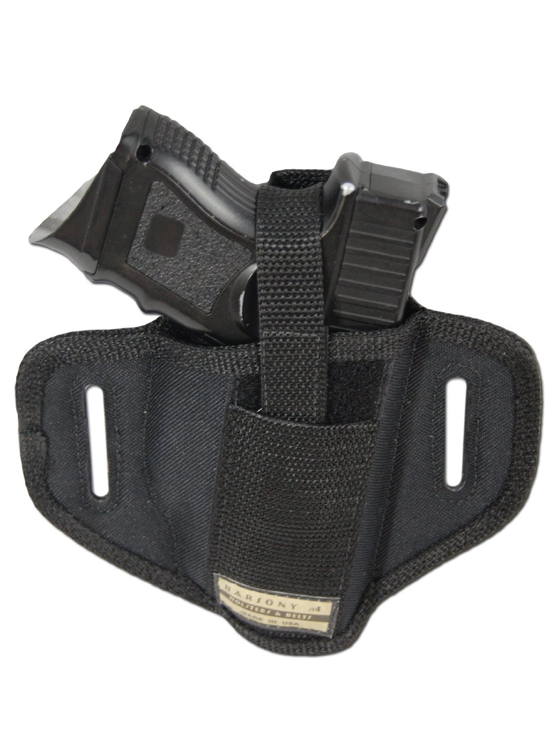 New Barsony 6 Position Ambidextrous Concealment Pancake Holster for Compact 9mm 40 45