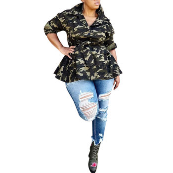 81020-MX53 flare tunic plus size tops for ladies