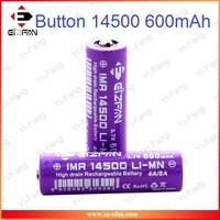 Factory Price EFAN 14500 Battery aa size 600mAh 4A/8A 3.7V Button Top Rechargeable 14500 Battery For Electrical Actuators