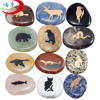 mixed Semi-Precious Stone engraved animal images