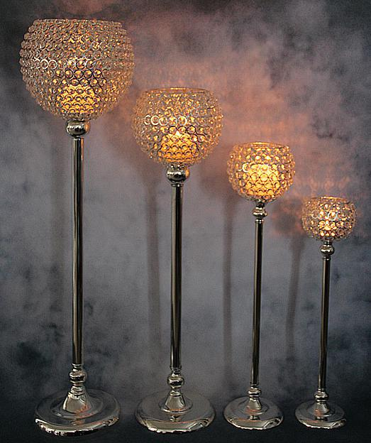 Unique Crystal Ball Candle Holder Tall Candle Holder/candelabra Glass  HI38