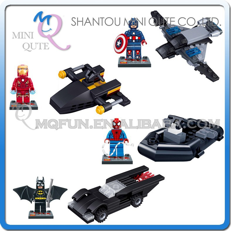 Mini Qute LELE 4pcs/set plastic Marvel Avenger chariots super hero boys building block action figures educational toy NO.78041