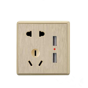 Manufacturers supply gold five-hole USB socket with USB interface type 86 wall socket five-hole USB wall plug
