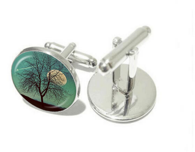 The tree of life time gem cufflinks sleeve button custom cuff-link