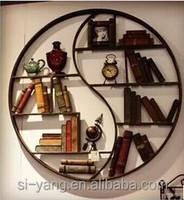 Wooden round book shelf with new design