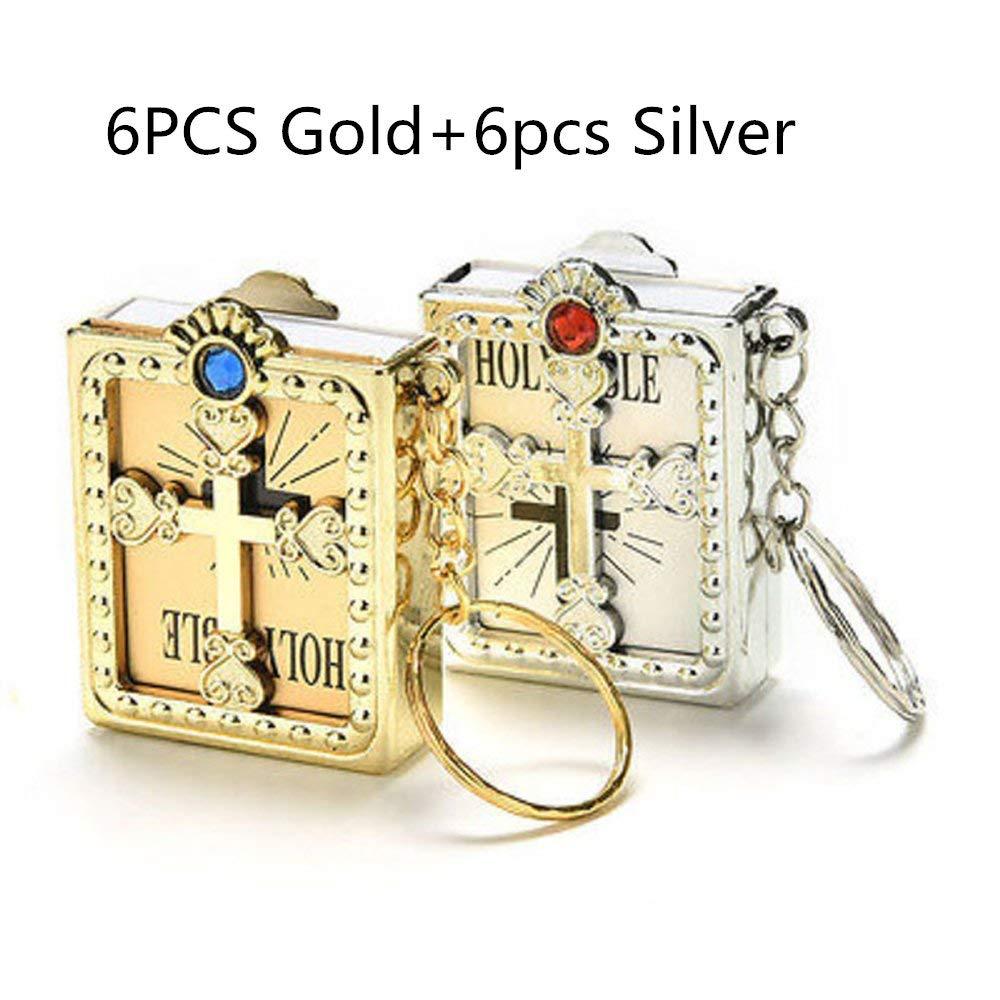 Get Quotations · JUMUU Holy bible keychain-Mini Holy Bible Key Chain  Christian Jesus Miniature Keychain Keyring - 0f8a0a987ee6