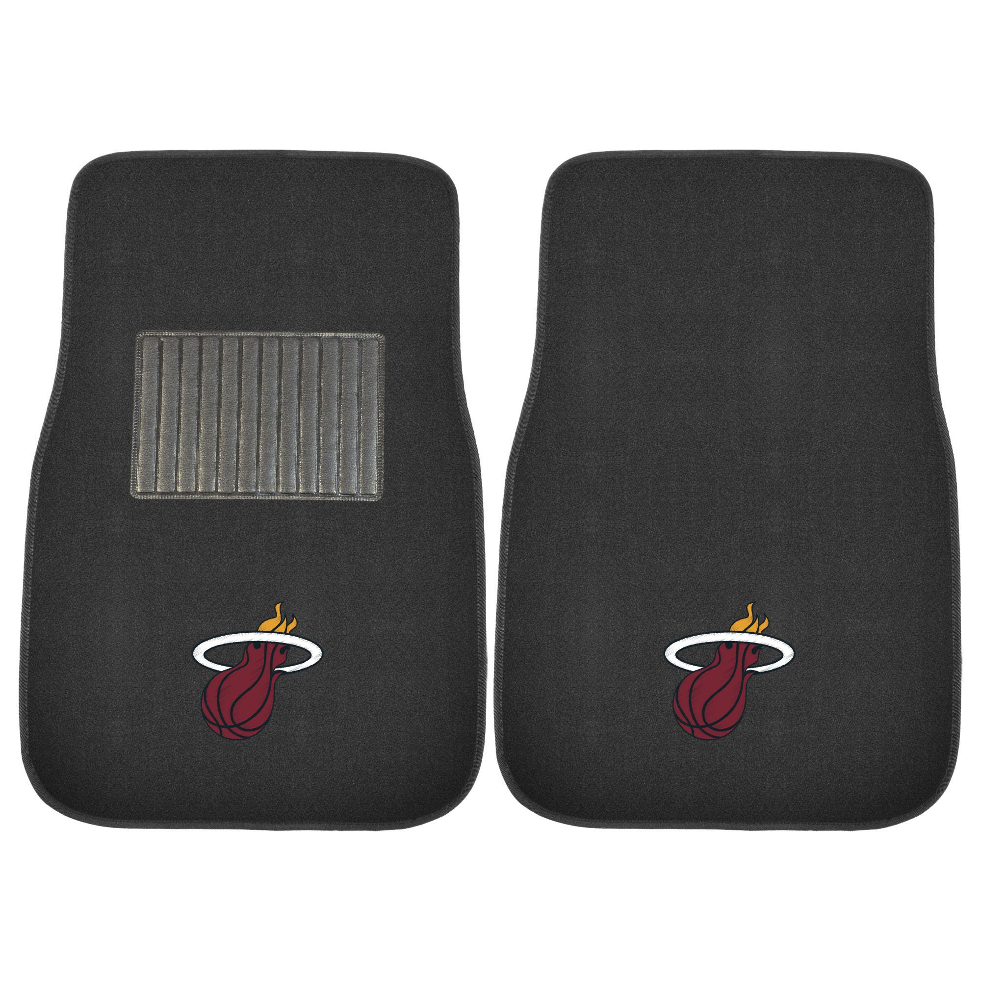FANMATS 17609 NBA Miami Heat 2-Piece Embroidered Car Mat