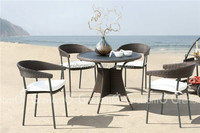 Simply living outdoor furniture small rattan wicker coffee table and chairs set