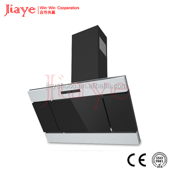 Stainless Steel Filter Black Painted Chimney Copper Motor Fan Material Kitchen Aire Range Hood JY-C9114