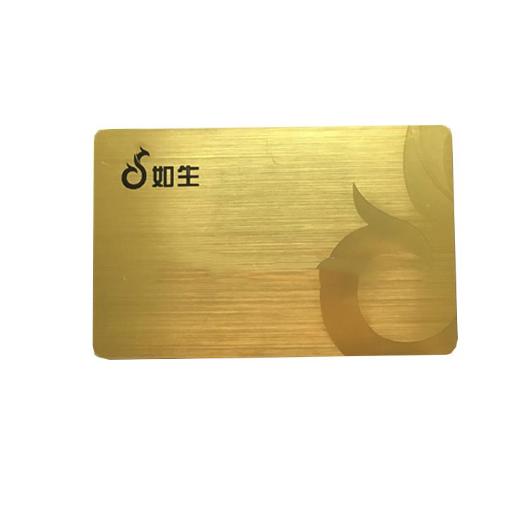 Günstige Silber/goldene Stanzen Metall Wirkung Visitenkarte Visitenkarten