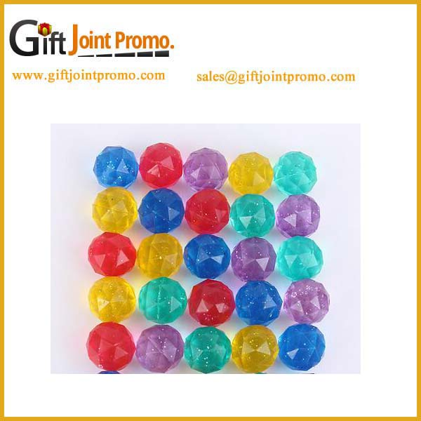 Wholesale rubber 32mm diamond shaped bouncy ball