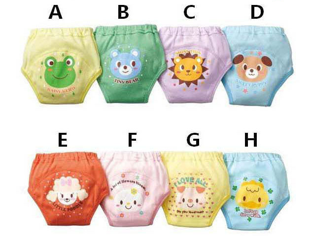 Fashion 100%Cotton baby Cartoon waterproof potty training pants 4 layers Baby underwear diaper bread pants(4pcs/lot)