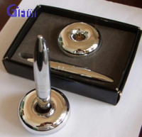 high quality promotional gift metal cheap desk ball pen with chain for bank