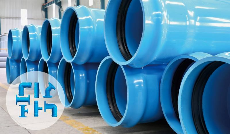 Blue PVC-UH Pipe Plastic PVC Pipe For Potable Water 315mm 450mm