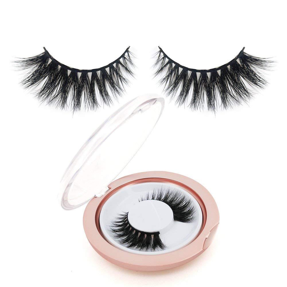 27dc8a5201a Get Quotations · BEPHOLAN False Eyelashes 3D Mink Lashes Reusable Handmade  Natural Lashes Fake Eyelashes Natural Look Easy to