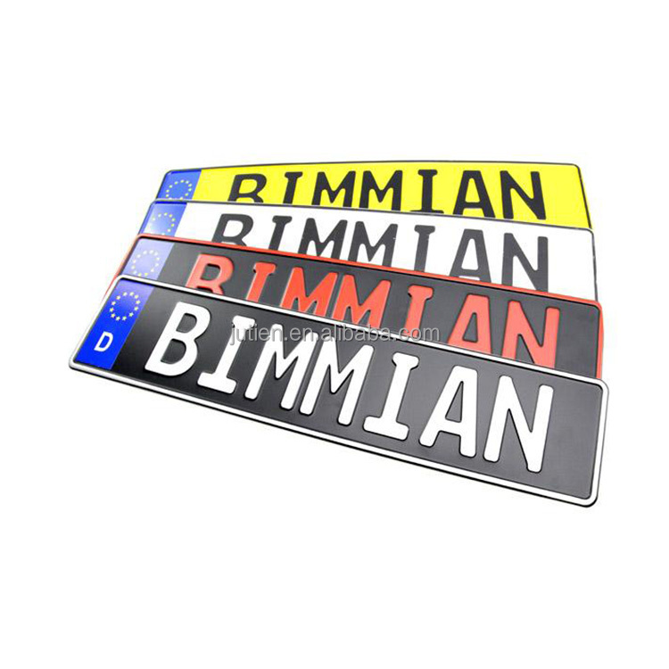 Wholesale Blank Aluminum Embossed Euro Car Number License Plates