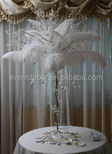Crystal And Feather Centerpiece For Weddingchrismas Use Buy