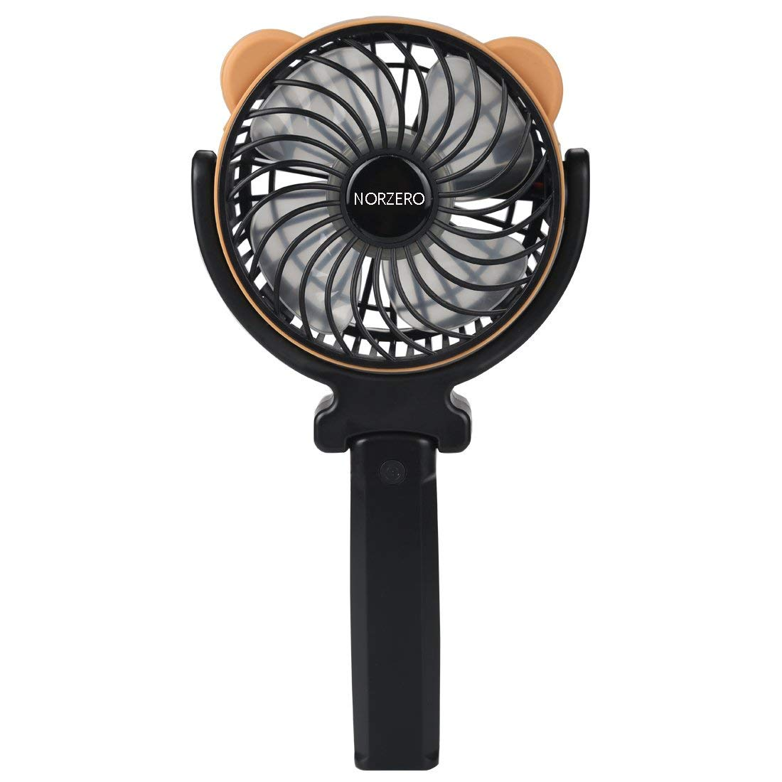 NORZERO Mini Handheld Fan Foldable Fan Personal Portable Cooling Fan Desk Fan with USB Rechargeable Battery Operated Electric Fan(Battery Included)