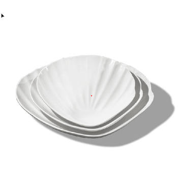 Shell shape cute creative melamine cake sushi dish set
