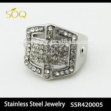 SSR420005-6 bulk sale fashion 2015 crystal stainless steel ring